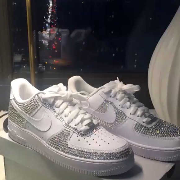 Nike Shoes | Og Bedazzled Air Force S